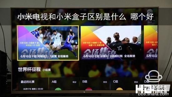 小米电视和小米盒子区别是什么 哪个好?