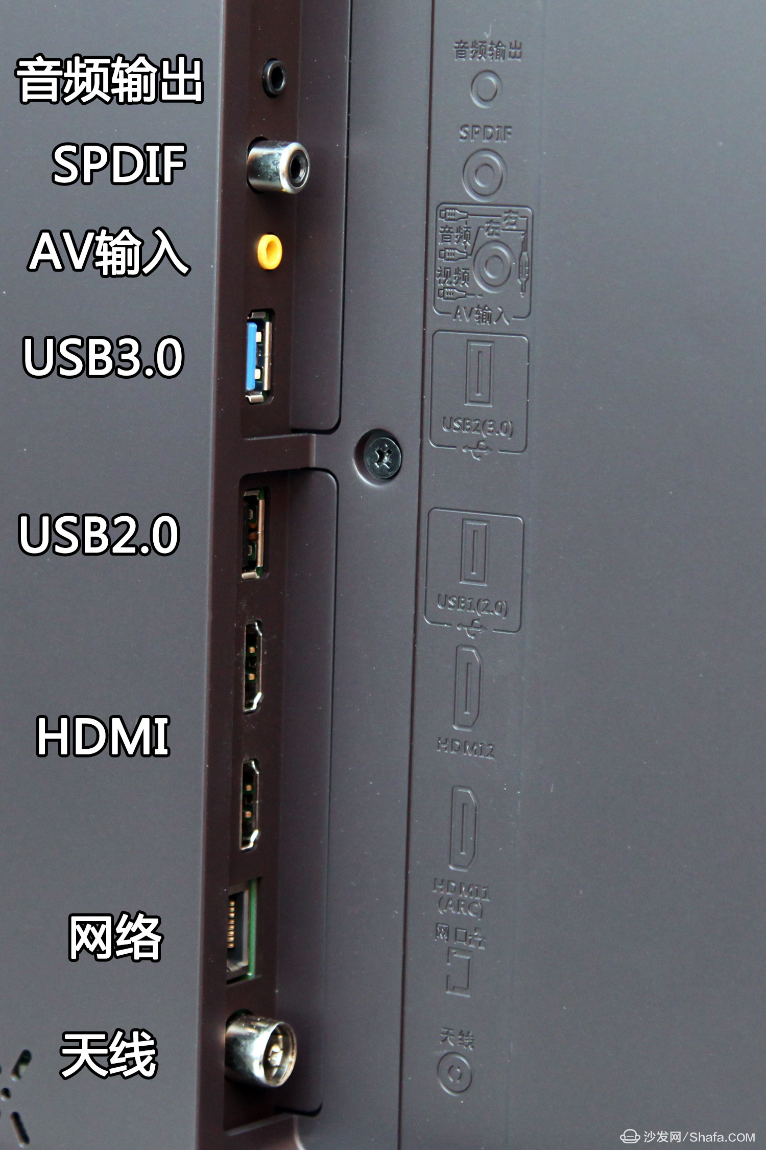 康佳變頻電視r1接口僅為豎向,從上到下分別是:音頻輸出,spdif,av輸入